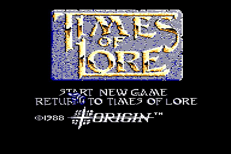 screenshot of the Amstrad CPC game Times of lore by GameBase CPC