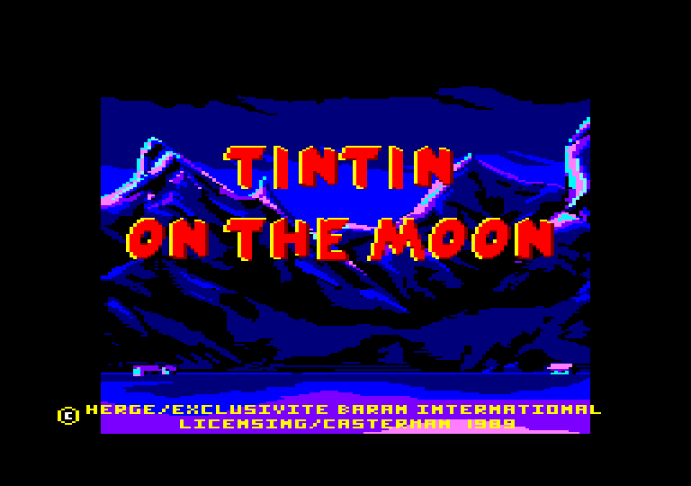 screenshot of the Amstrad CPC game Tintin on the Moon [CPC+] by GameBase CPC