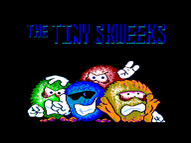 screenshot of the Amstrad CPC game Tiny skweeks (the) by GameBase CPC