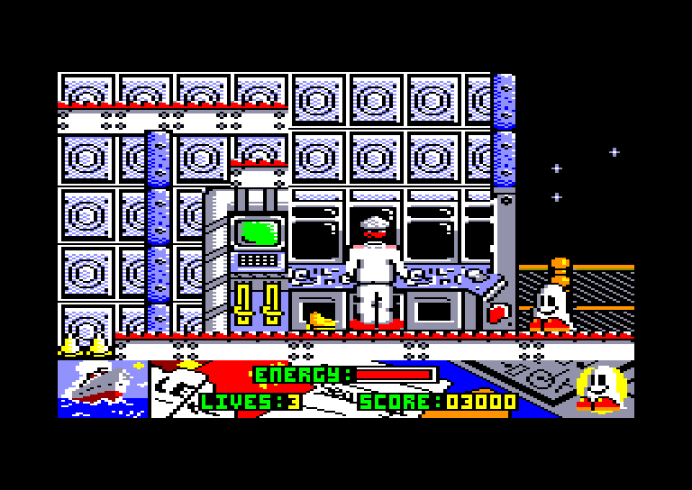 screenshot of the Amstrad CPC game Titanic blinky by GameBase CPC