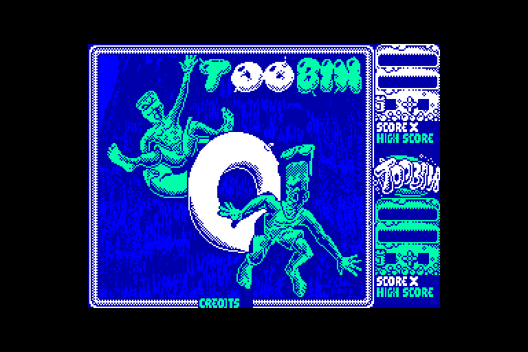 screenshot of the Amstrad CPC game Toobin' by GameBase CPC