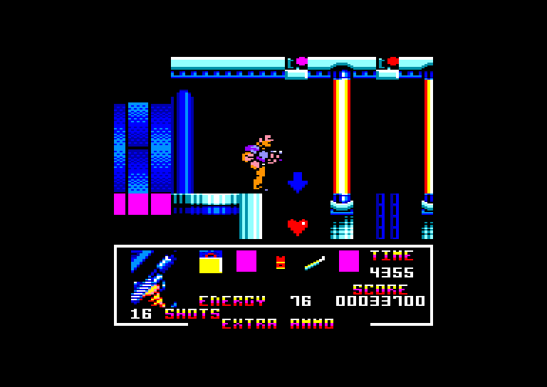 screenshot of the Amstrad CPC game Total Recall by GameBase CPC