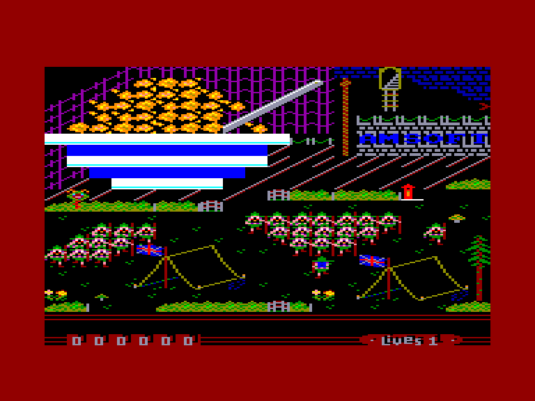 screenshot of the Amstrad CPC game Sscout Steps Out (the) by GameBase CPC