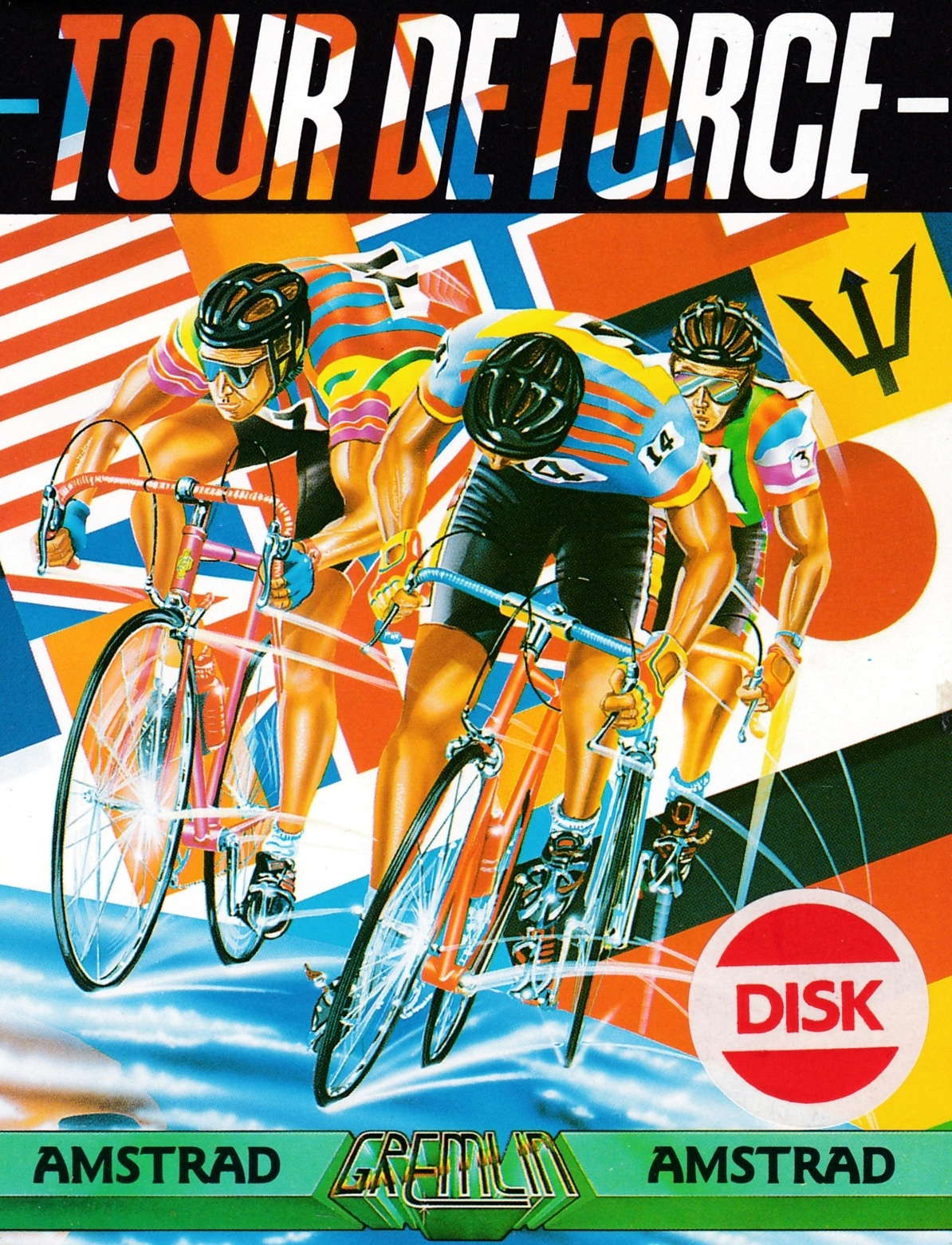 screenshot of the Amstrad CPC game Tour de force by GameBase CPC