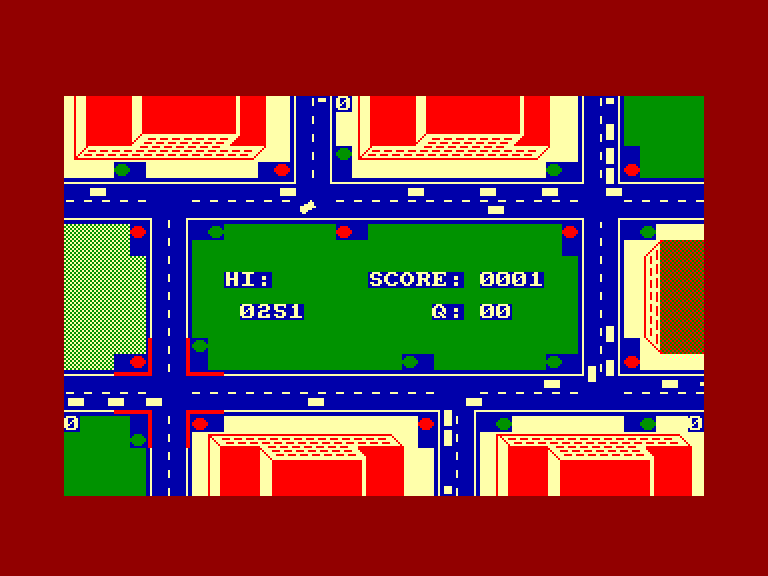 screenshot of the Amstrad CPC game Air Traffic Control by GameBase CPC