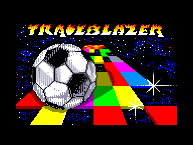 screenshot of the Amstrad CPC game Trailblazer by GameBase CPC