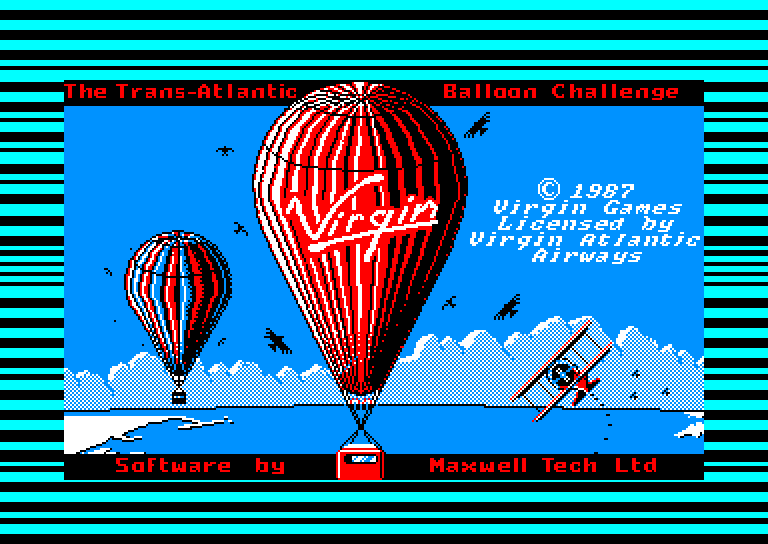 screenshot of the Amstrad CPC game Trans-Atlantic Balloon Challenge (the) by GameBase CPC