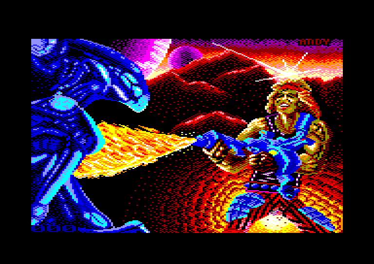 screenshot of the Amstrad CPC game Trantor The Last Stormtrooper by GameBase CPC