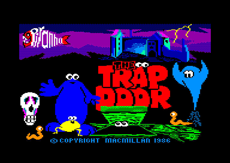 screenshot of the Amstrad CPC game Trap Door (the) by GameBase CPC