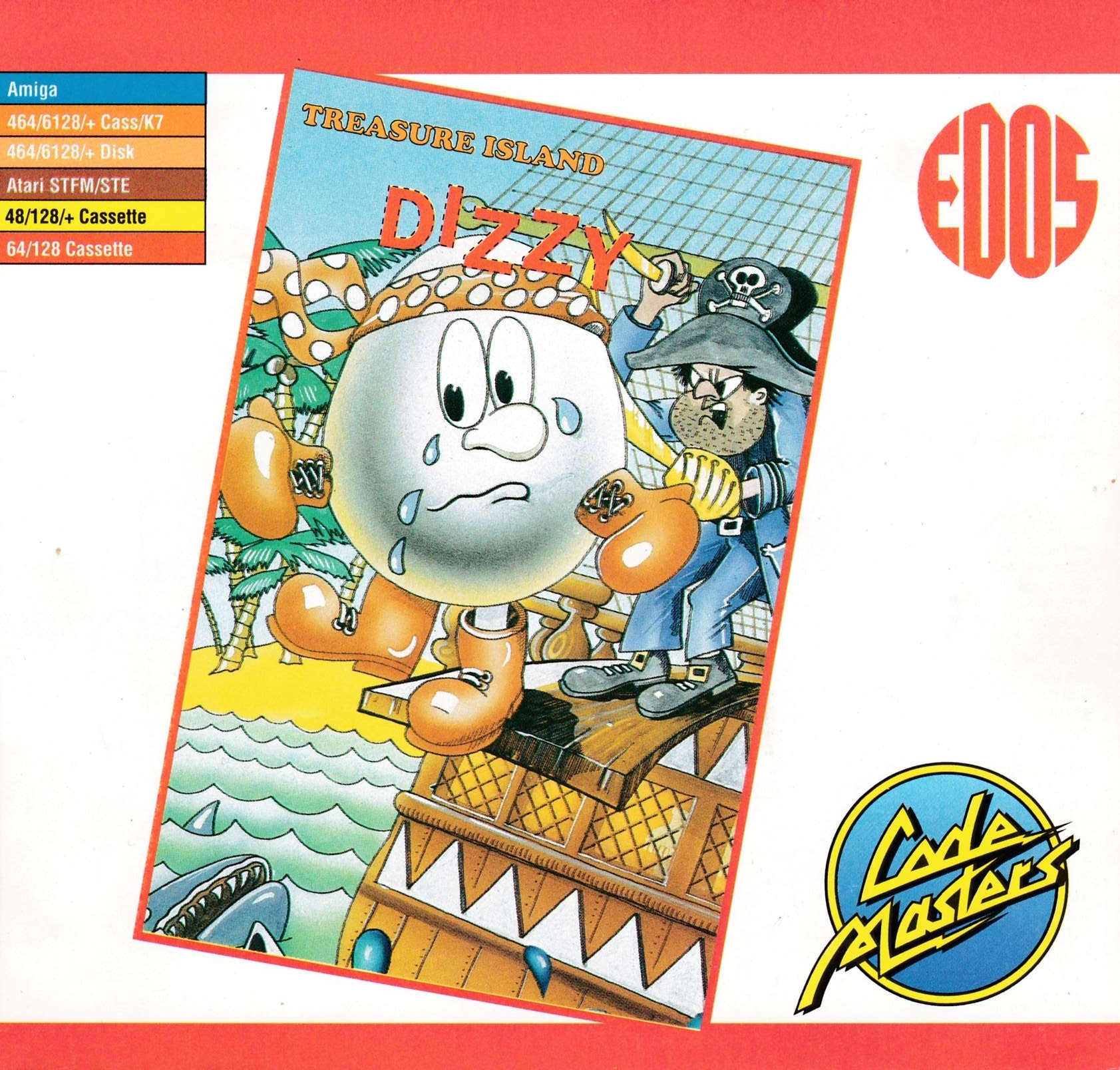 screenshot of the Amstrad CPC game Dizzy II - Treasure Island Dizzy by GameBase CPC