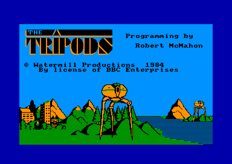 screenshot of the Amstrad CPC game Tripods (the) by GameBase CPC
