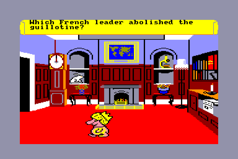 screenshot of the Amstrad CPC game Trivial Pursuit - Genus Edition by GameBase CPC