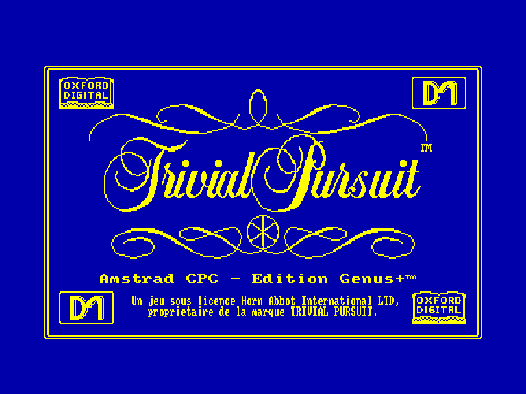 screenshot of the Amstrad CPC game Trivial Pursuit - L'Edition de Noel by GameBase CPC
