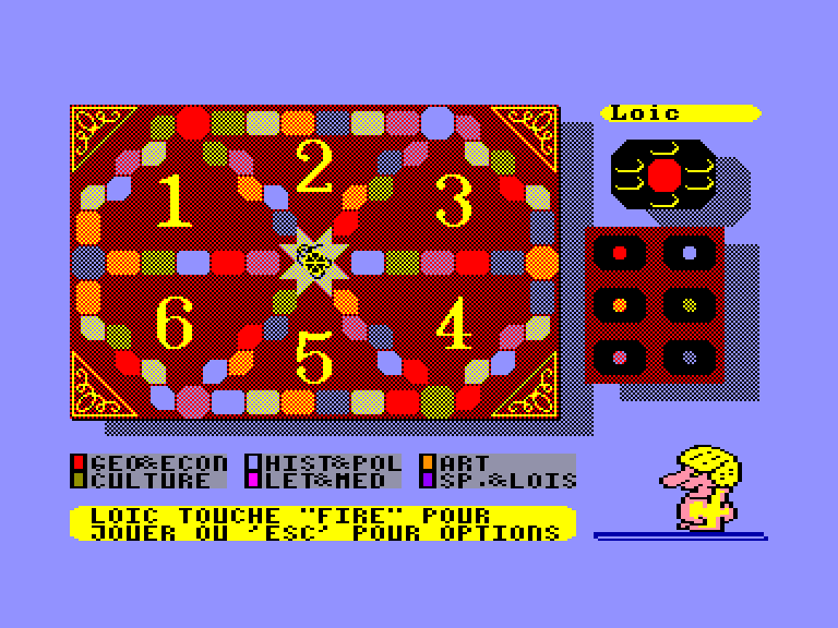 screenshot of the Amstrad CPC game Trivial Pursuit  - Edition Revolution by GameBase CPC