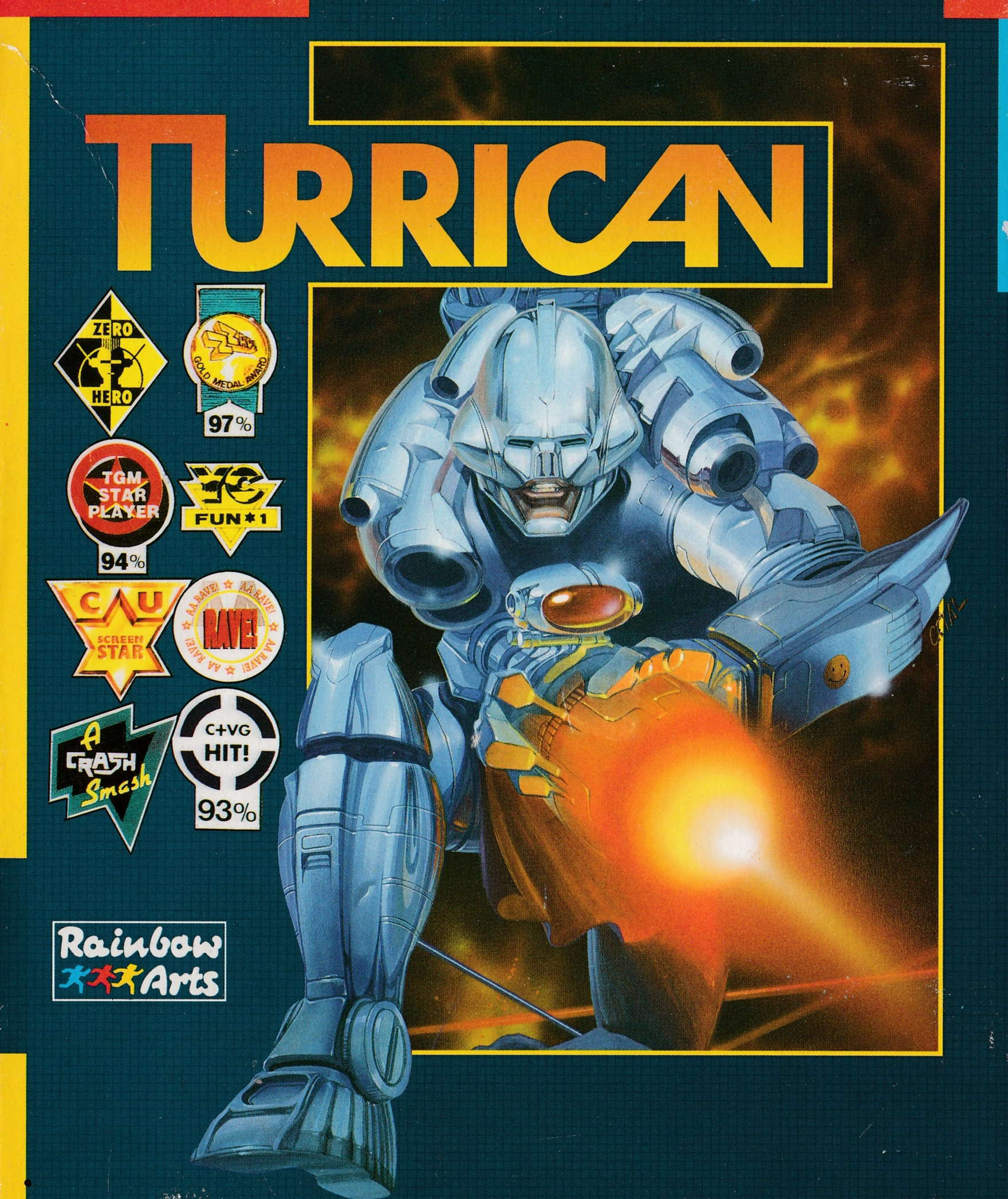 cover of the Amstrad CPC game Turrican  by GameBase CPC