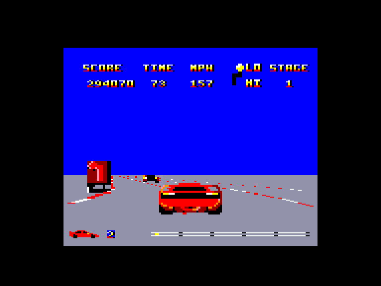 screenshot of the Amstrad CPC game Twin Turbo V8 by GameBase CPC