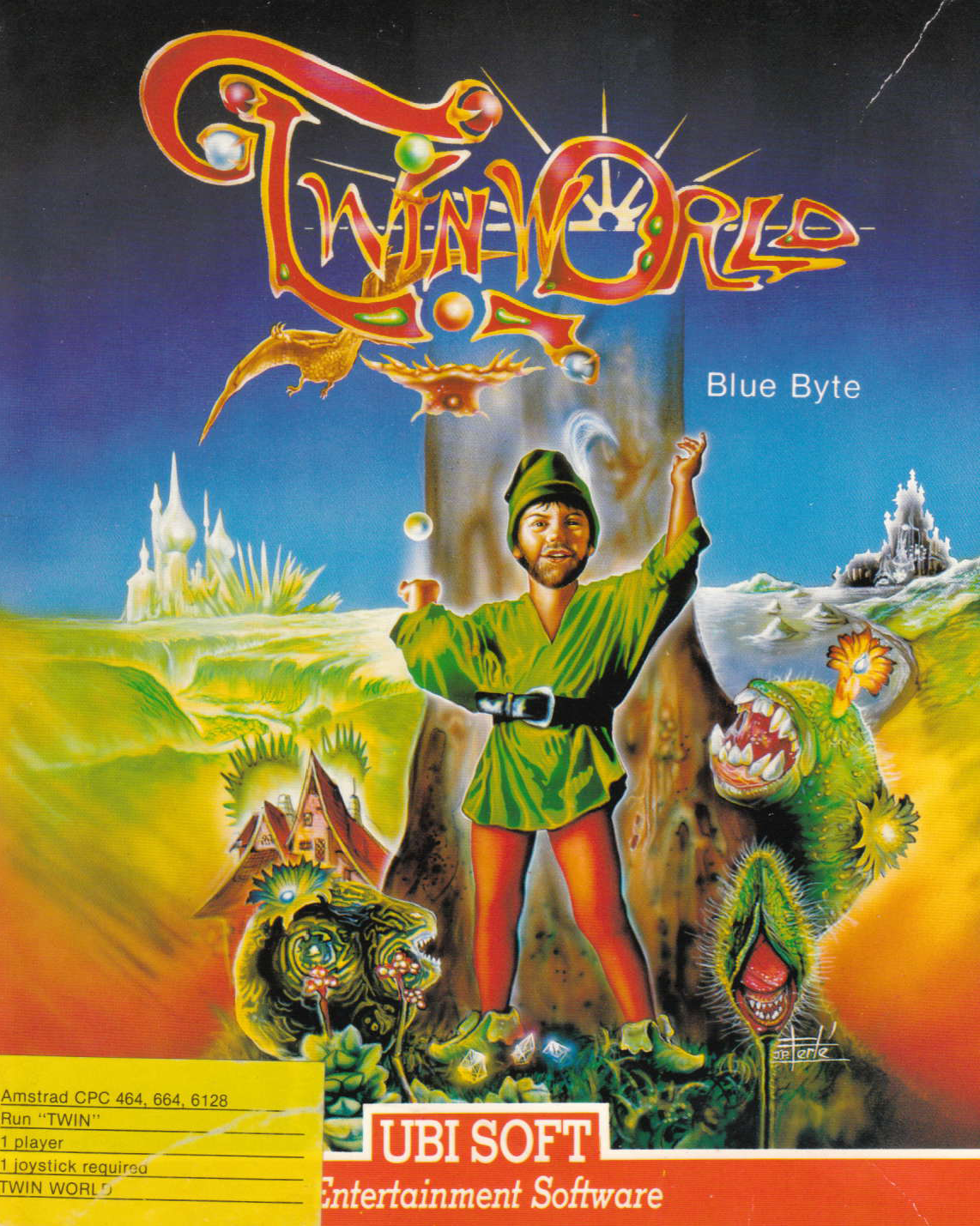 screenshot of the Amstrad CPC game Twinworld by GameBase CPC