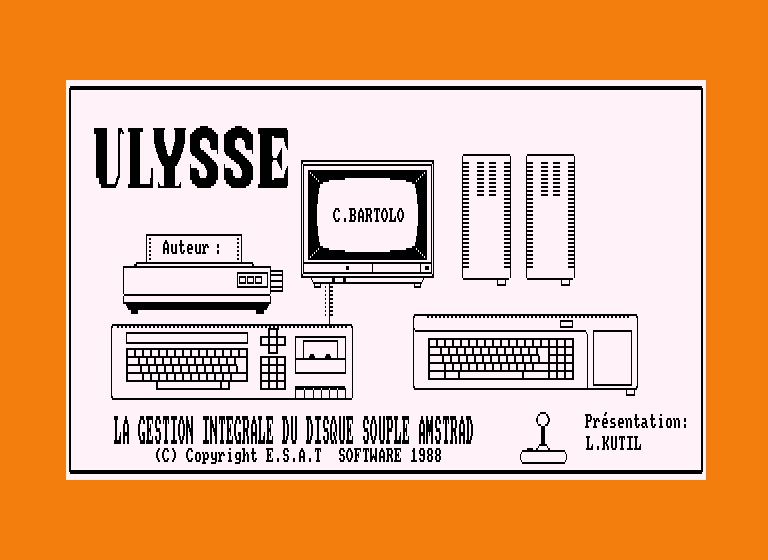 screenshot of the Amstrad CPC game Ulysse by GameBase CPC