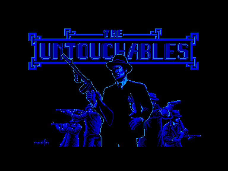 screenshot of the Amstrad CPC game Untouchables (the) by GameBase CPC
