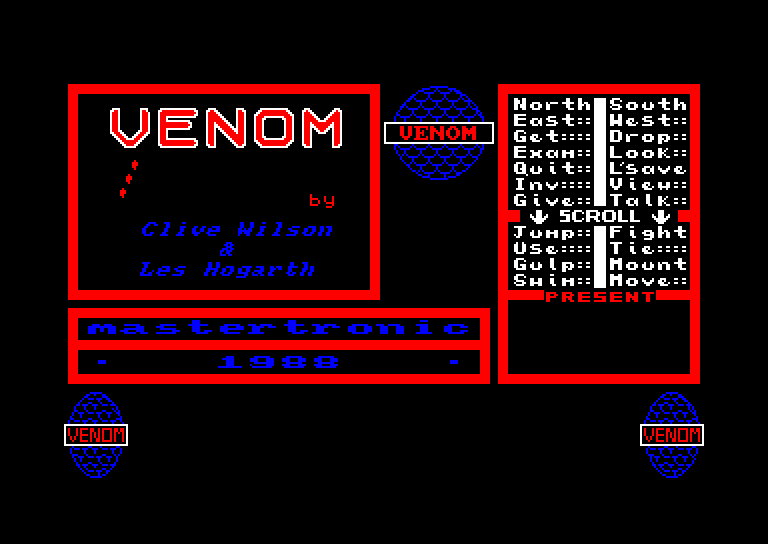 screenshot of the Amstrad CPC game Venom by GameBase CPC