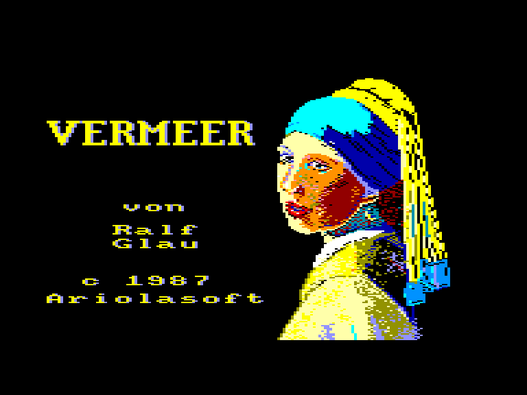 screenshot of the Amstrad CPC game Vermeer by GameBase CPC