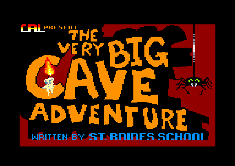 screenshot of the Amstrad CPC game Very big cave adventure (the) by GameBase CPC