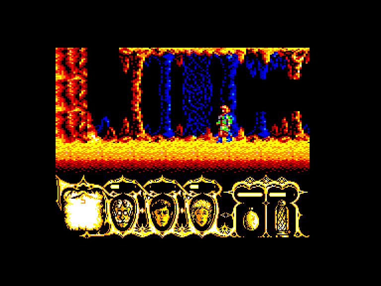 screenshot of the Amstrad CPC game Viaje al Centro de la Tierra by GameBase CPC