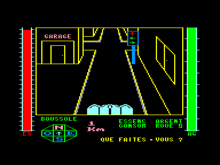 screenshot of the Amstrad CPC game Ville infernale (la) by GameBase CPC