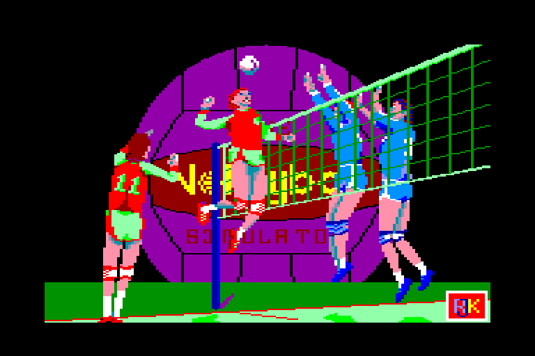 screenshot of the Amstrad CPC game Volleyball simulator (the) by GameBase CPC