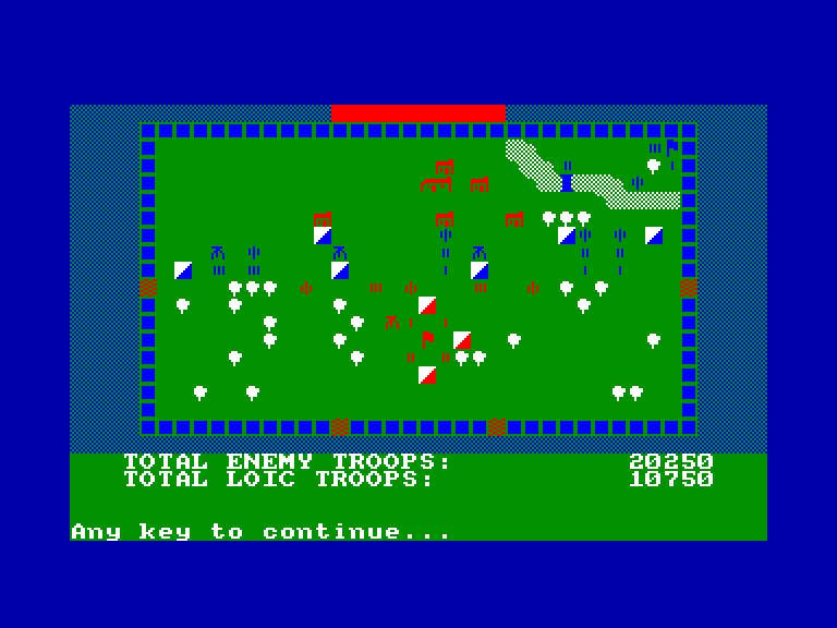 screenshot of the Amstrad CPC game War Game by GameBase CPC