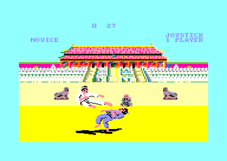 screenshot of the Amstrad CPC game Way of the exploding fist (the) by GameBase CPC