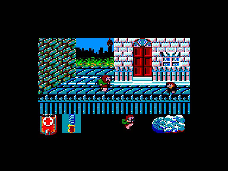 screenshot of the Amstrad CPC game Werewolves of London by GameBase CPC