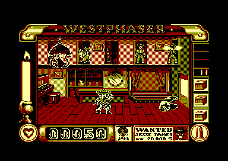 screenshot of the Amstrad CPC game West Phaser by GameBase CPC