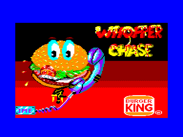 screenshot of the Amstrad CPC game Whopper chase by GameBase CPC
