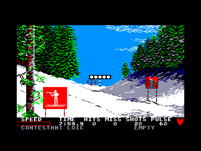 screenshot of the Amstrad CPC game Winter Games by GameBase CPC