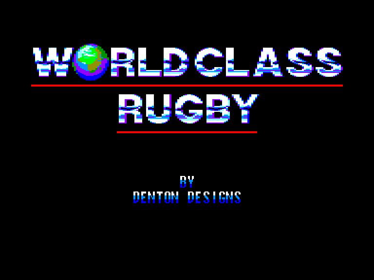 screenshot of the Amstrad CPC game World class rugby by GameBase CPC