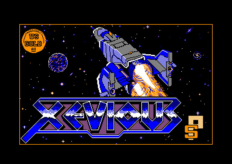 screenshot of the Amstrad CPC game Xevious by GameBase CPC