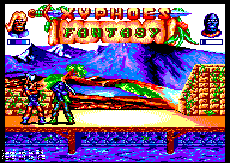 screenshot of the Amstrad CPC game Xyphoes Fantasy by GameBase CPC