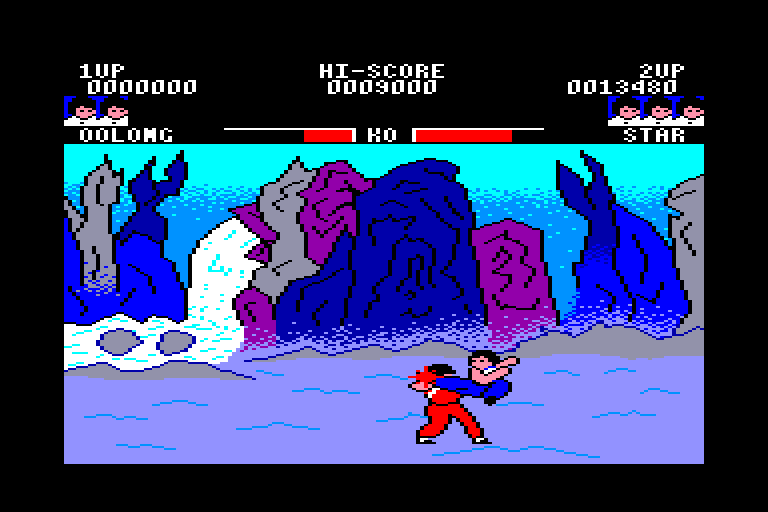 screenshot of the Amstrad CPC game Yie Ar Kung Fu by GameBase CPC