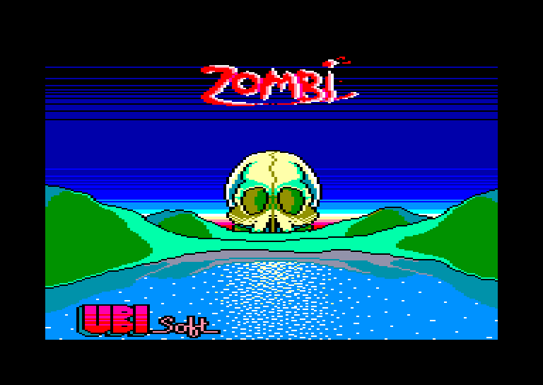 screenshot of the Amstrad CPC game Zombi by GameBase CPC
