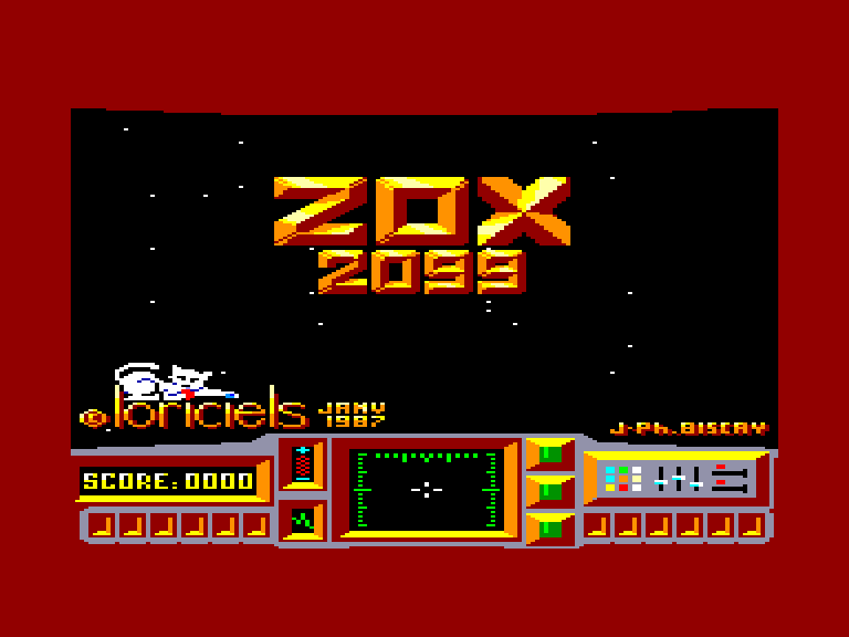 screenshot of the Amstrad CPC game Zox 2099 by GameBase CPC