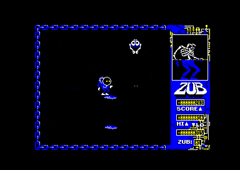 screenshot of the Amstrad CPC game Zub by GameBase CPC