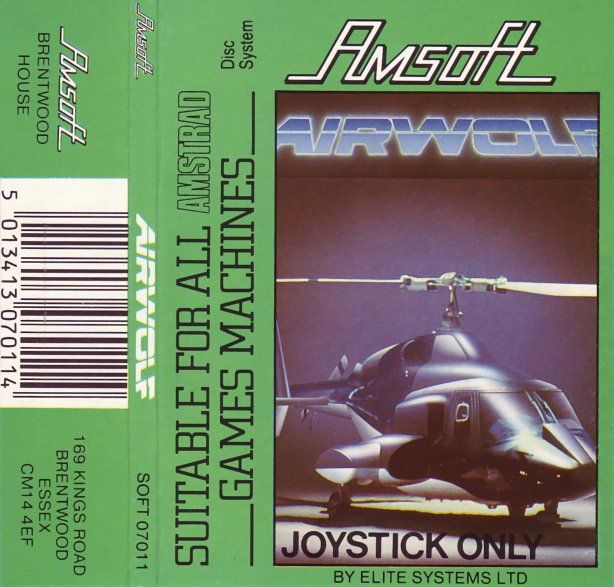 cover of the Amstrad CPC game airwolf by Mig