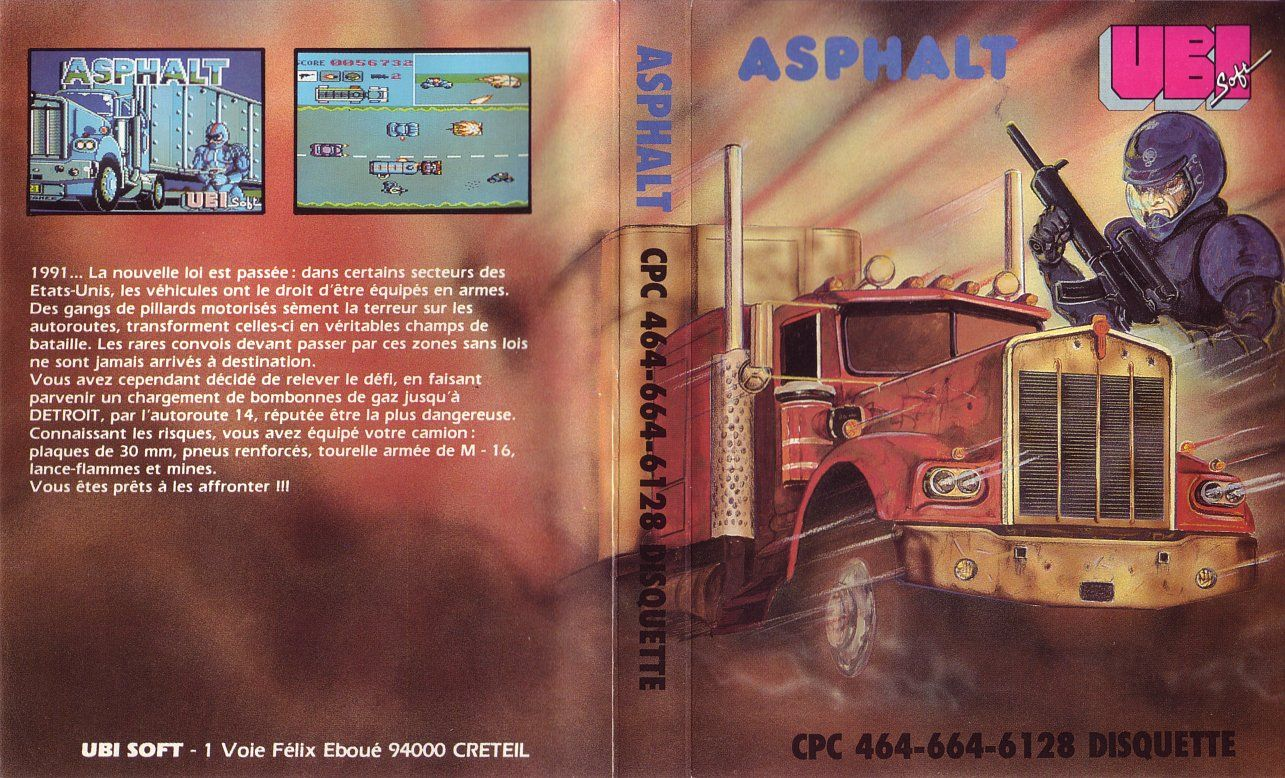 cover of the Amstrad CPC game asphalt by Mig