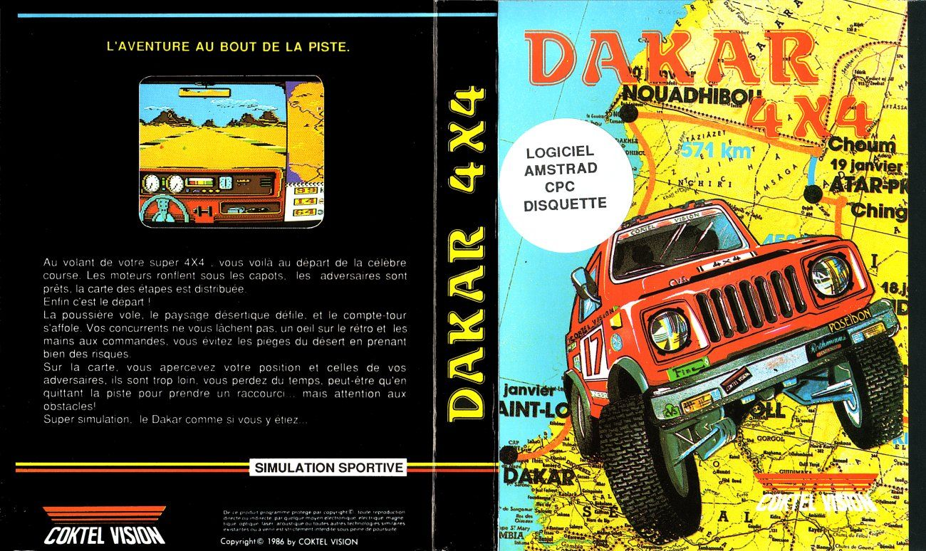 cover of the Amstrad CPC game dakar_4x4 by Mig