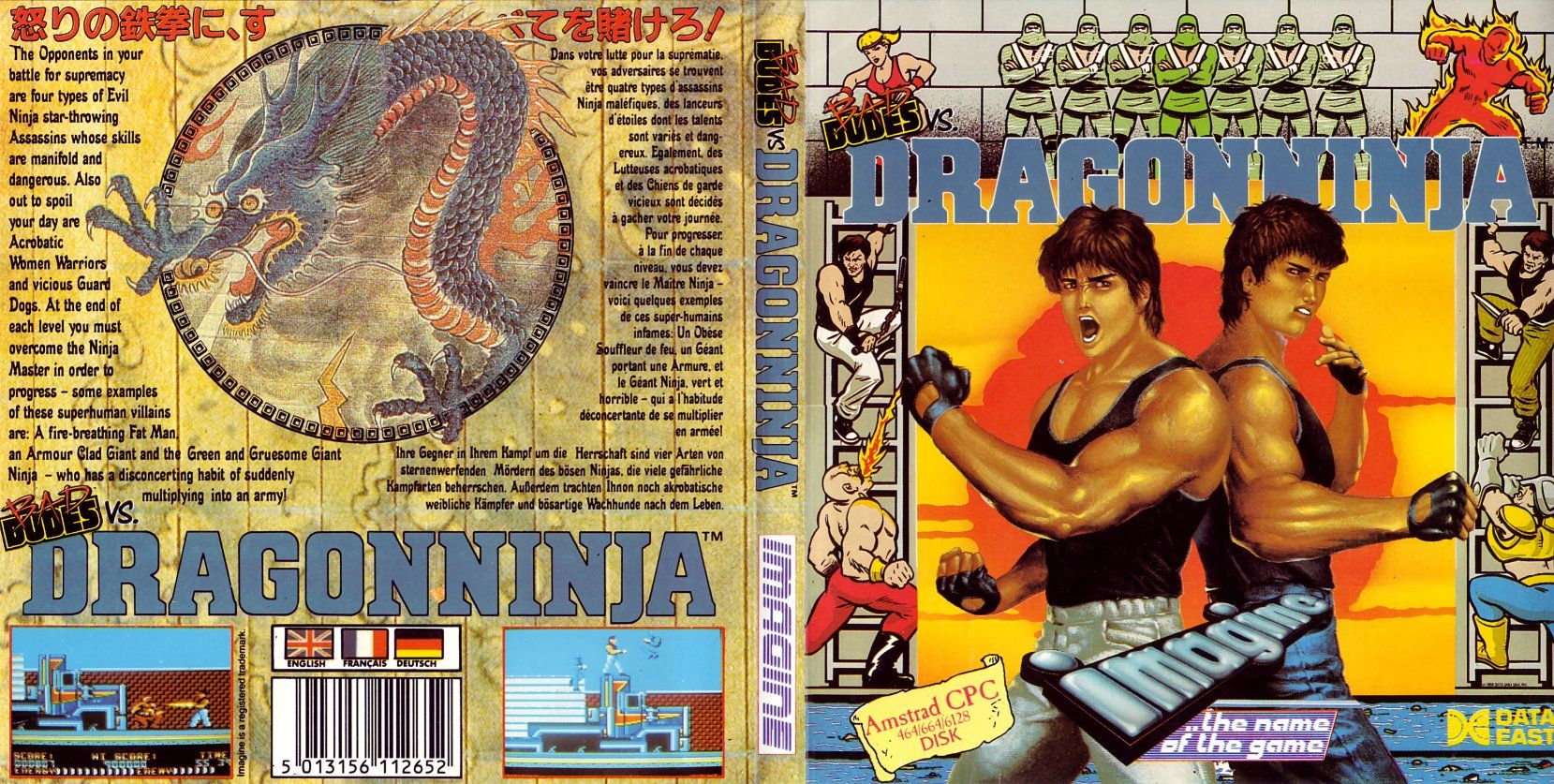 cover of the Amstrad CPC game dragon_ninja_(bad_dudes_vs) by Mig