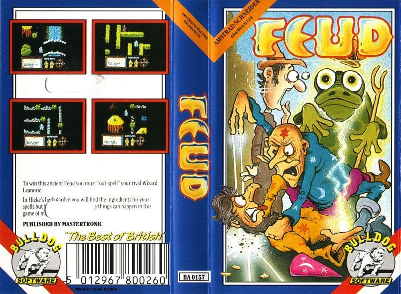 cover of the Amstrad CPC game feud by Mig