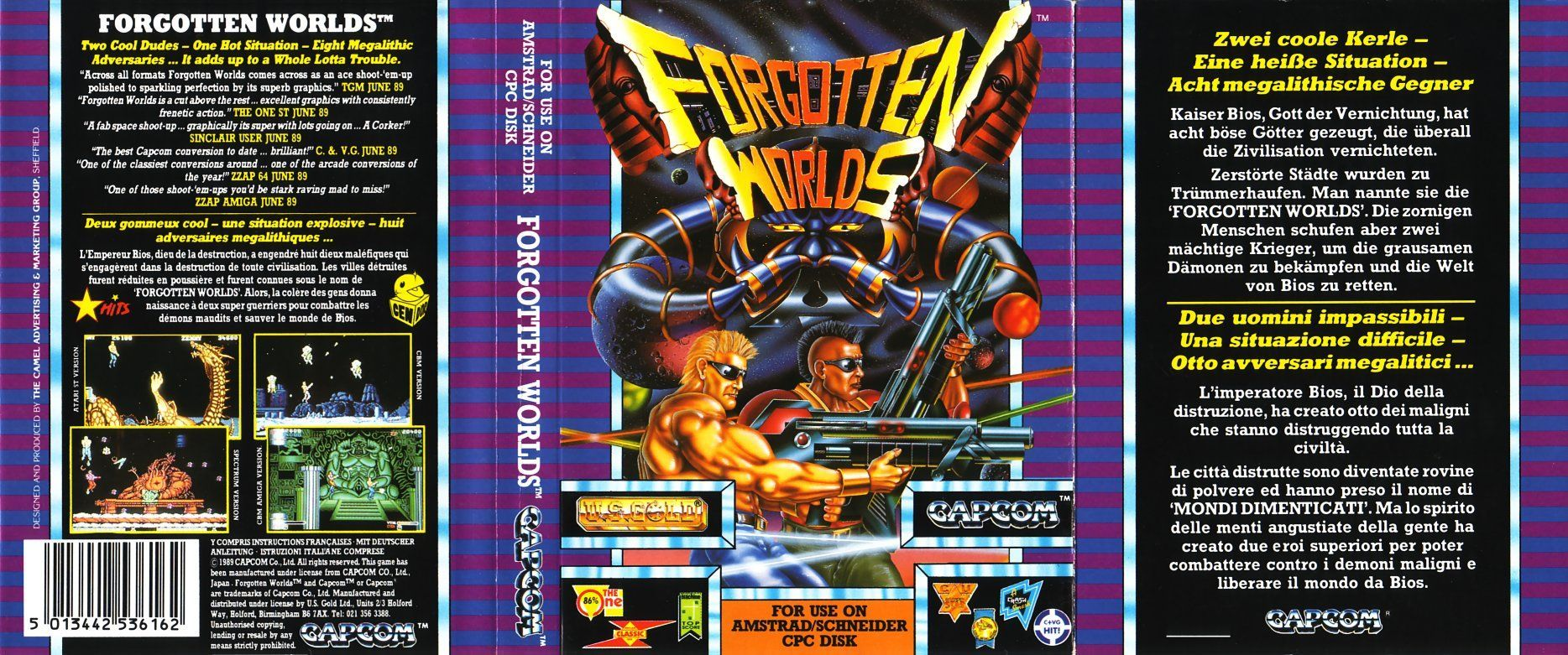 cover of the Amstrad CPC game forgotten_worlds by Mig