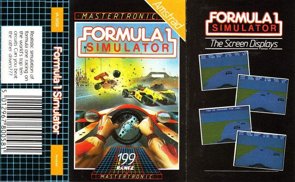 cover of the Amstrad CPC game formula_1_simulator by Mig