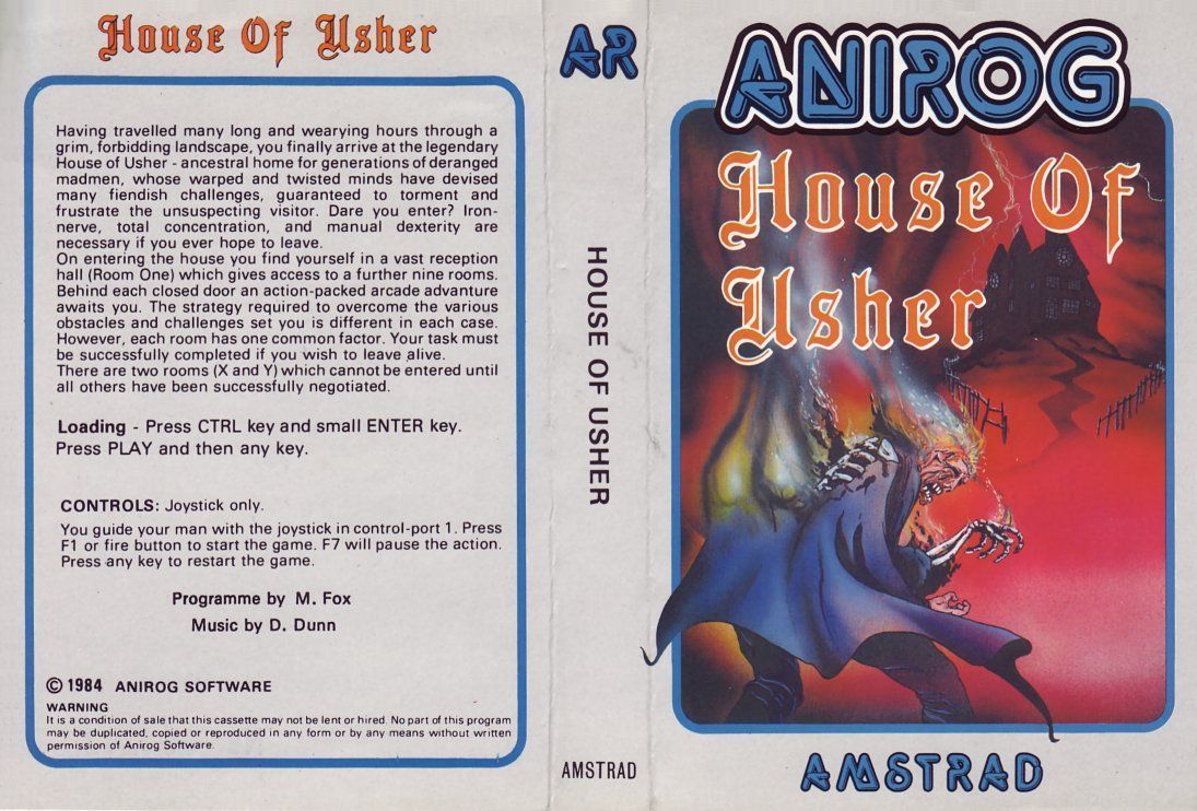 cover of the Amstrad CPC game house_of_usher by Mig